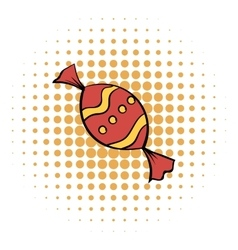 Red sweet comics icon vector image