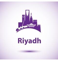Riyadh skyline Greatest landmarks as vector image vector image