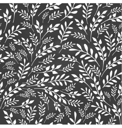 Seamless floral background on blackboard vector image