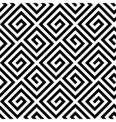 Seamless greek fret key pattern in black and white vector image vector image
