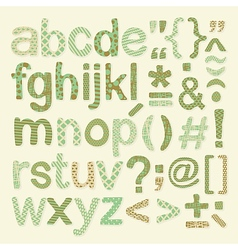 Textured Alphabet Set vector image vector image