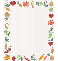 Vegetables frame vector image vector image