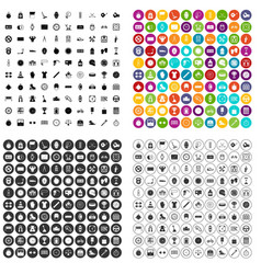 100 stopwatch icons set variant vector