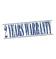 2 years warranty blue grunge vintage stamp vector