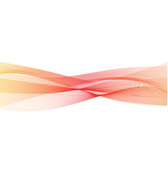 abstract transparent orange-red gradient wave vector image