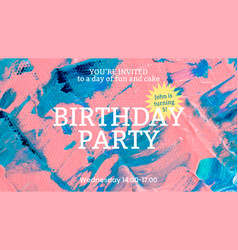 Acrylic paint party template colorful aesthetic vector