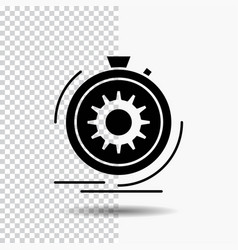 Action fast performance process speed glyph icon vector