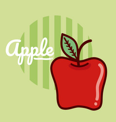 apple fruit cartoon vector image