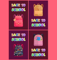 Back to school posters set vector