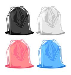 Backpack for shoes knapsack set design vector