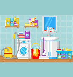 bathroom and laundry room vector image
