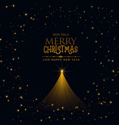 Black christmas poster design with glowing xmas vector