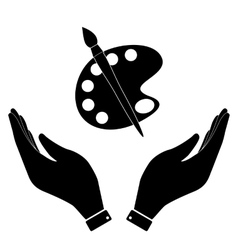 Black hand icon vector image