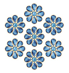 Blue Flowers of Sapphires vector