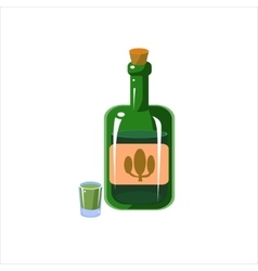 Bottle Of Teqila vector image