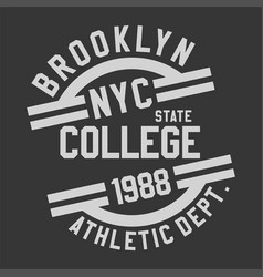brooklyn nyc college vector image