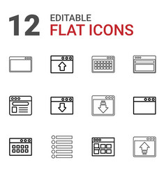 Browser icons vector