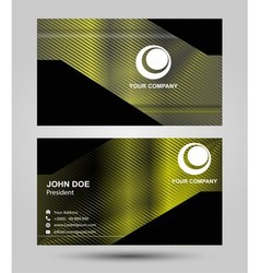 Business card template with abstract symbol vector