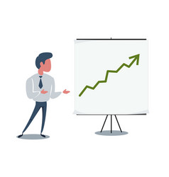 Businessman and growth chart on board stock vector