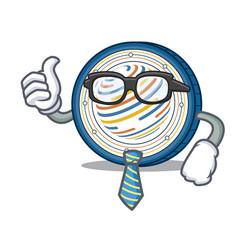 Businessman factom coin character cartoon vector