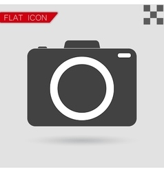 camera icon Flat Style with red vector image