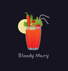 cartoon bloody mary alcohol vector image
