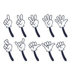 cartoon hand counting vector image