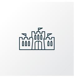 castle icon line symbol premium quality isolated vector image
