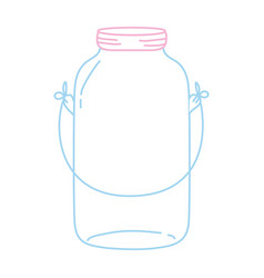 Color line long mason glass with wire handle vector