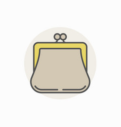 Colorful purse icon vector
