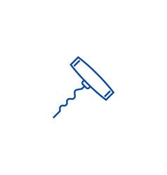 corkscrew line icon concept corkscrew flat vector image