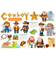 cowboy hunter prisoner sheriff lawyer farmer vector image