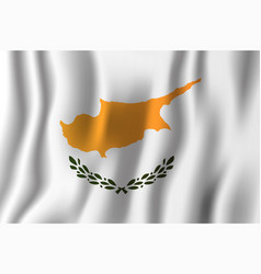 cyprus realistic waving flag national country vector image