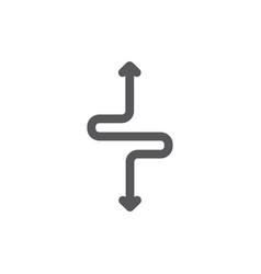 Detour flexibility line icon vector