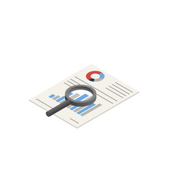 diagram search icon isometric style vector image