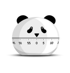 digital kitchen panda timer and minutes countdown vector image
