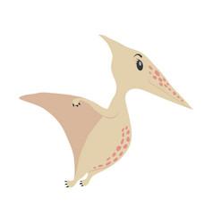 dinosaur pterodactyl cartoon vector image