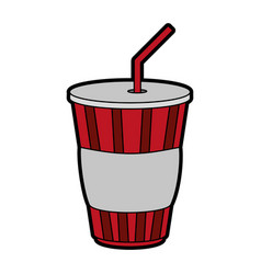 Disposable cup beverage icon image vector