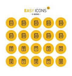 Easy icons 26c e-books vector