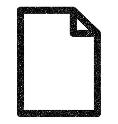 Empty Page Grainy Texture Icon vector image