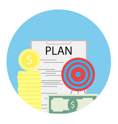 Financial plan of success vector