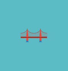 flat icon golden gate element vector image
