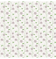 floral roses pattern vector image