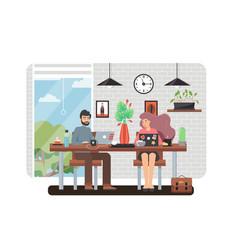 freelance work flat style design vector image