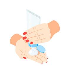 Hand cream icon vector