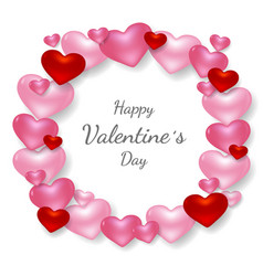 Happy valentines day greeting card cover template vector
