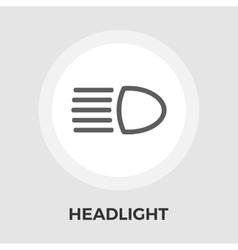 Headlight flat icon vector image