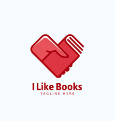 I like books abstract sign emblem or logo vector
