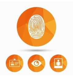 Identity ID card badge icons Eye symbol vector image