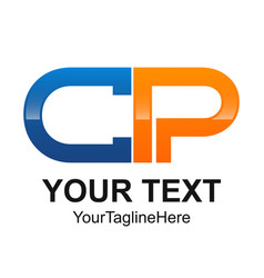 Initial letter cp logo design template element vector